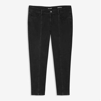 Joe Fresh Women+ Black High-Waist Jeans, Black (Size 16)