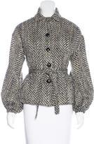 Lela Rose Tweed Belted Jacket