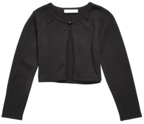 Bonnie Jean Little Girls Cotton Embellished Cardigan