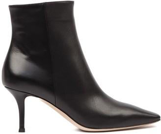 Gianvito Rossi Black Leather Stiletto Ankle Boots