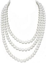 "Fun/Flirty White Faux Pearl 60"" Necklace - Bridesmaid Jewelry"