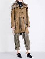 Stella McCartney Gail cotton-twill and faux-fur parka coat