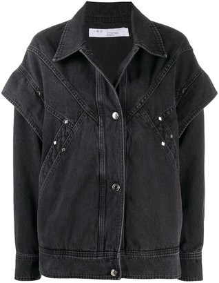 IRO Long-Sleeved Layered Denim Jacket