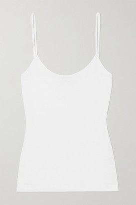 Ninety Percent Net Sustain Ribbed Organic Cotton-jersey Camisole - White