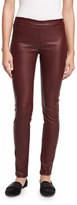 Theory Adbelle L2 Bristol Leather Leggings, Garnet