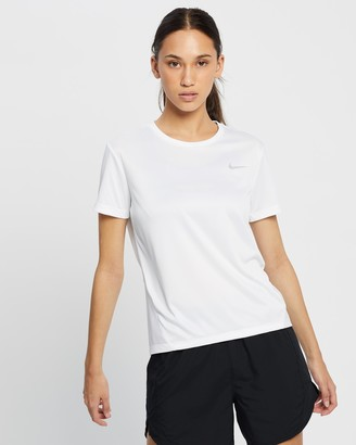 Nike Women's White Short Sleeve T-Shirts - Miller Short Sleeve Top - Size XS at The Iconic