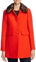 Kate Spade Feminine Faux Fur Coat