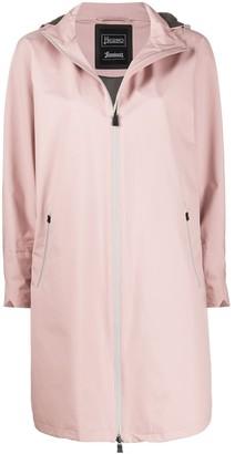 Herno Detachable-Hood Raincoat