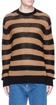 McQ Stripe cotton-linen sweater