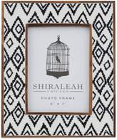 "Shiraleah Boheme Ikat Print 5"" x 7"" Picture Frame"