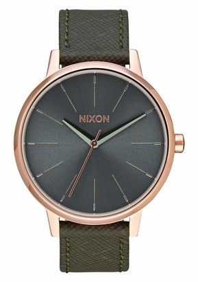 Nixon Unisex Analogue Quartz Watch with Leather Strap A108-2214-00