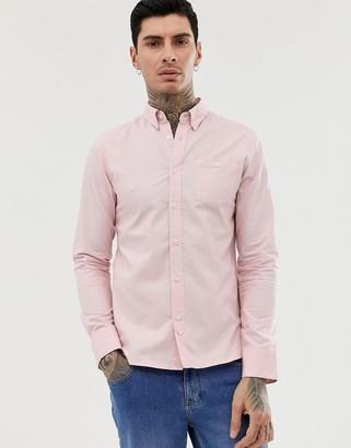 D Struct D-Struct Oxford Long Sleeve Shirt-Pink