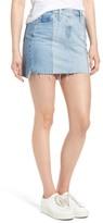 AG Jeans Women's Sandy Raw Edge Denim Miniskirt