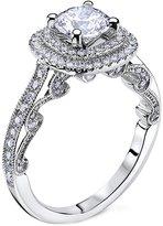 "Scott Kay Sillhoutte"" Semi Mount Diamond Engagement Ring in 14K White Gold (5/8 cttw)"