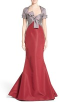 Carolina Herrera Women's Bow Front Colorblock Gown