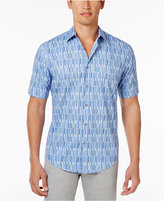 Alfani Men's Geometric-Print Cotton Shirt, Only at Macy's