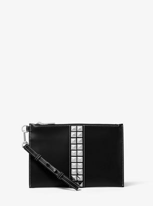 Michael Kors Studded Calf Leather Wristlet