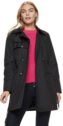 Nine West Women's Double-Breasted Trench Coat