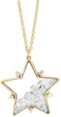 Moritz Glik 18kt Yellow Gold Diamond Star Shaker Pendant Necklace