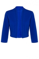 Quiz Royal Blue Crop 3/4 Sleeve Jacket