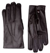 Harrods Of London Fur Lined Leather Gloves