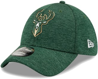New Era Men's Hunter Green Milwaukee Bucks Shadow 39THIRTY Flex Hat
