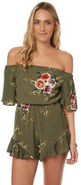 Reverse New Women's Womens Tabetha Shimmy Playsuit Polyester Green