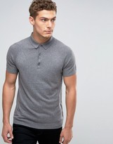 Benetton Cashmere Blend Short Sleeve Knitted Polo