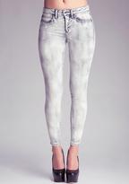 Bebe Grey Wash Mid-Rise Skinny