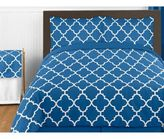 Sweet Jojo Designs Trellis Bedding Collection in Blue/White