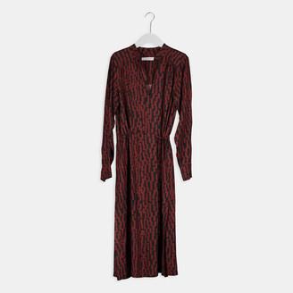Humanoid Davina Dress - xsmall | viscose | maroon - Maroon