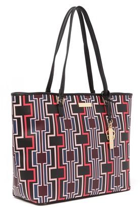 Trina Turk Geometric Center Zip Pocket Tote Bag
