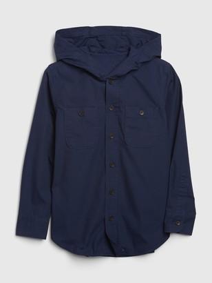 Gap Kids Button-Down Hoodie Shirt