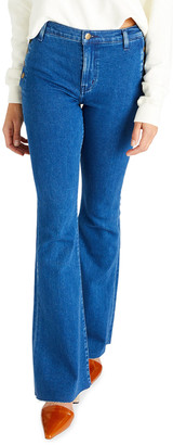 ÉTICA Nina Button-Fly Flare Jeans