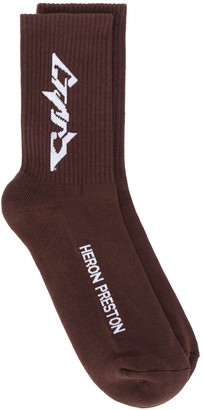 Heron Preston Techno long socks