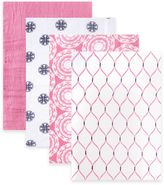 BabyVision® Hudson Baby® 4-Pack Mandalas Muslin Swaddle Blankets in Pink