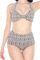 Bettie Page Victoria Floral Bikini