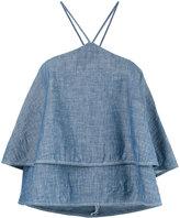 Dondup ruffled top - women - Cotton - 40