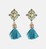 Avenue Turquoise Tassel Drop Earrings