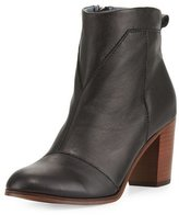 Toms Lunata Leather Ankle Boot, Black