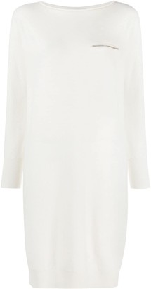 Fabiana Filippi Brass-Embellished Jumper Dress