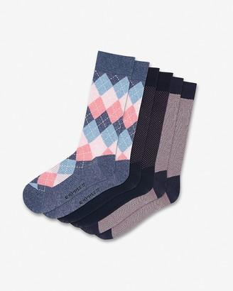 Express 3 Pack Mixed Print Dress Socks