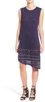Rebecca Minkoff &Hilton& Eyelet Detail Linen Shift Dress