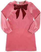 Gucci Sequined Bow Cotton Velvet Dress