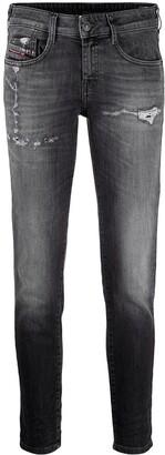 Diesel distressed Ollies slim jeans