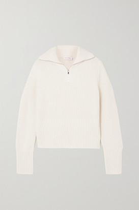 Ninety Percent + Net Sustain Ribbed Organic Merino Wool Sweater - White