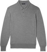 Thom Sweeney - Mélange Wool Polo Shirt