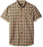 O'Neill Men's Modern Fit Cotton Short Sleeve Woven Shirt