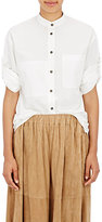 Tomas Maier Women's Cotton Roll-Sleeve Blouse-WHITE