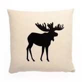 Abordale Moose Throw Pillow Union Rustic